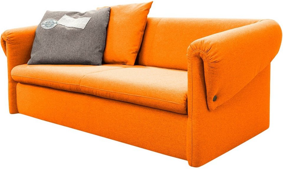 TOM TAILOR 2-Sitzer Sofa »BUTTON DOWN«, Breite 156 cm in orange juice TBO 7