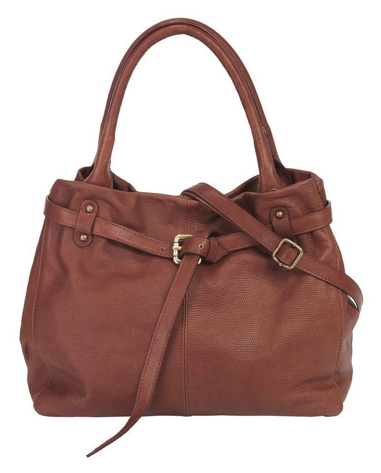 piké Leder Damen Handtasche in braun