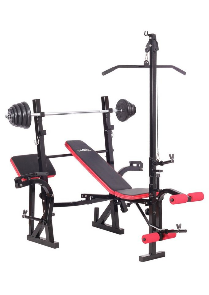 hantelbank weight bench sp wb 005 set sportplus online. Black Bedroom Furniture Sets. Home Design Ideas