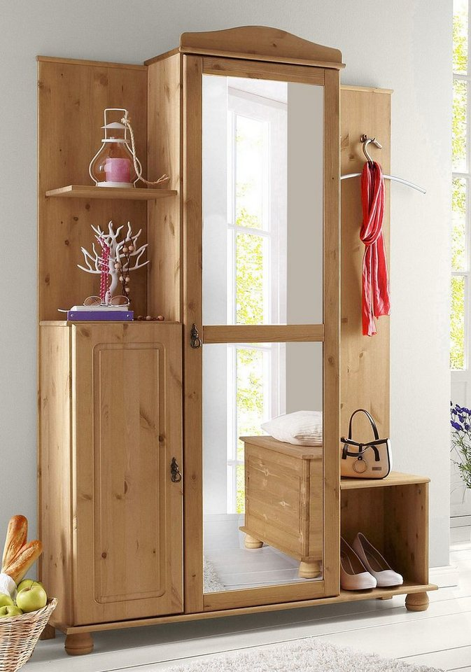Kompaktgarderobe home affaire finca kaufen otto for Kompaktgarderobe im landhausstil