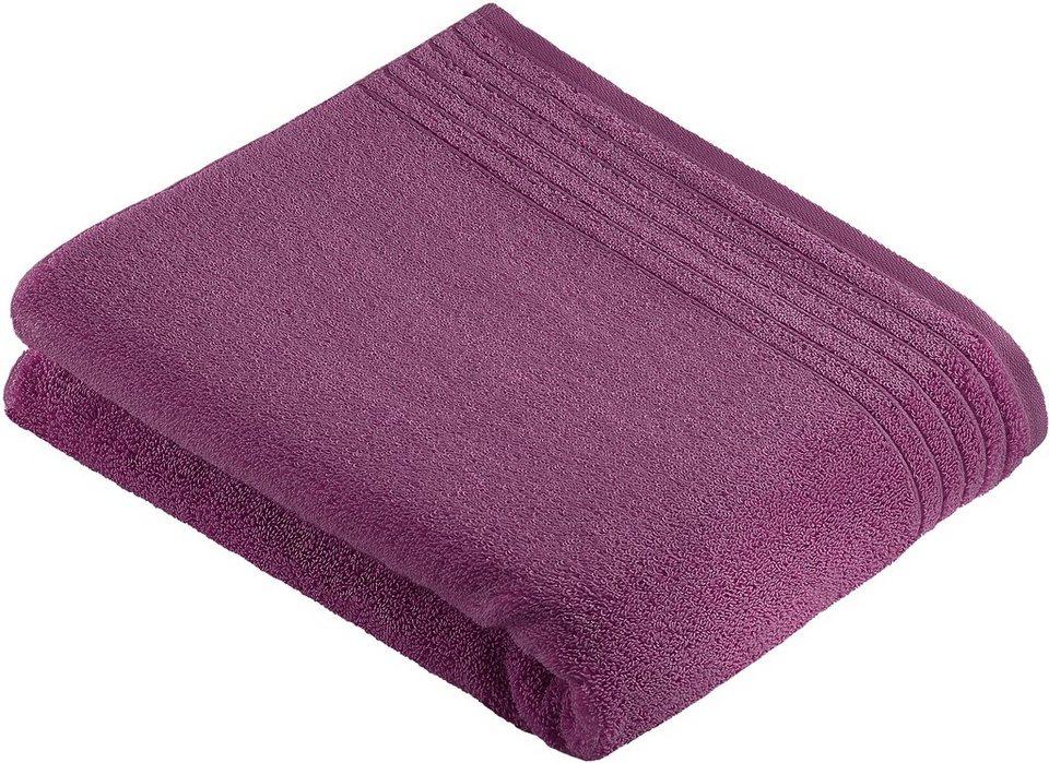 Badetuch, Vossen, »Dream«, mit Streifenbordüre in violett