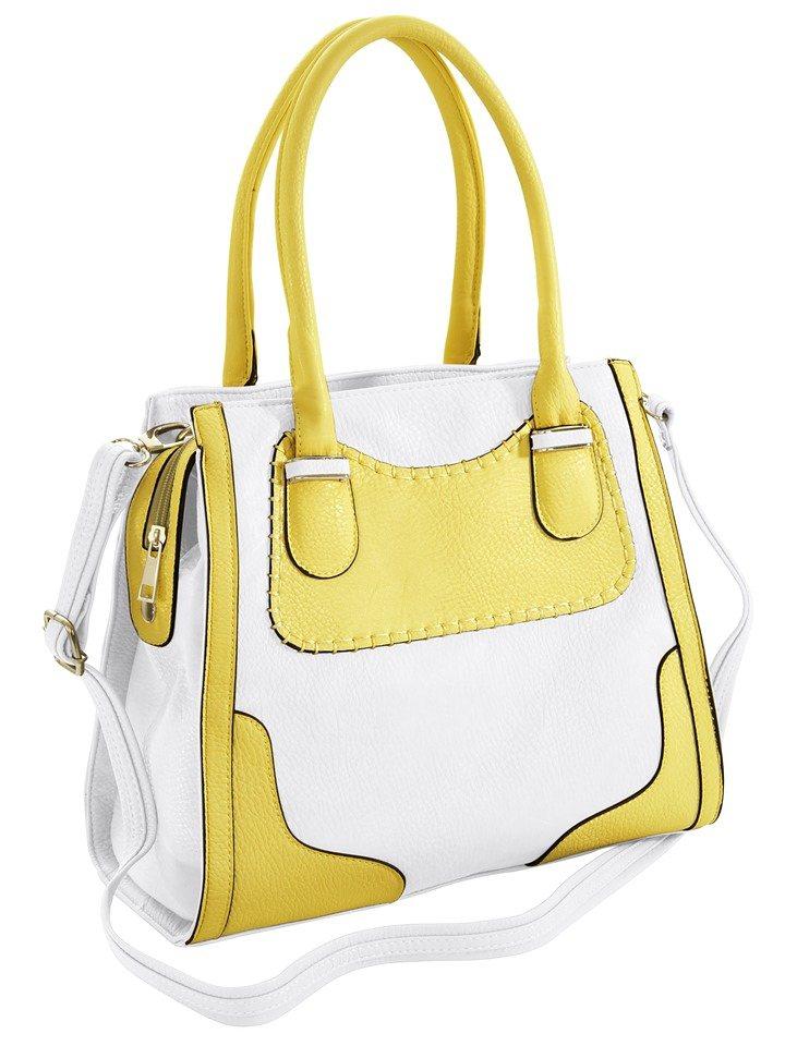 Tasche in weiß/gelb
