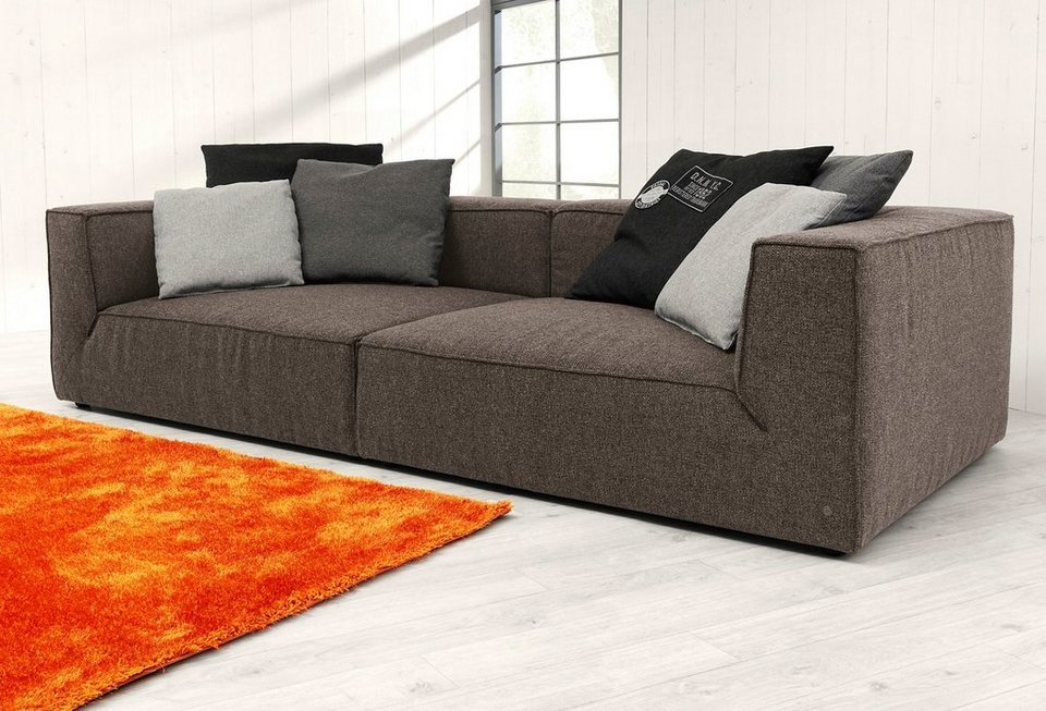 tom tailor big sofa big cube wahlweise mit sitztiefenverstellung online kaufen otto. Black Bedroom Furniture Sets. Home Design Ideas