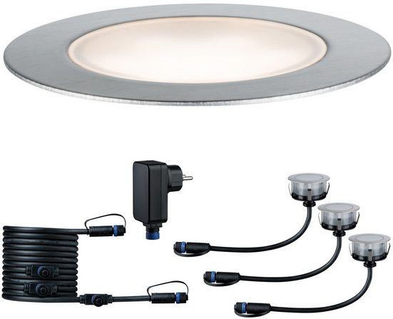 Paulmann LED Einbauleuchte »Outdoor Plug & Shine Floor«, Starterset IP65 3000K