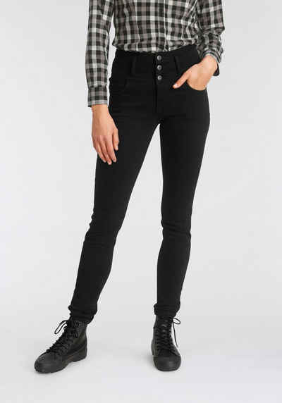 Arizona Slim-fit-Jeans »mit extra breitem Bund« High Waist
