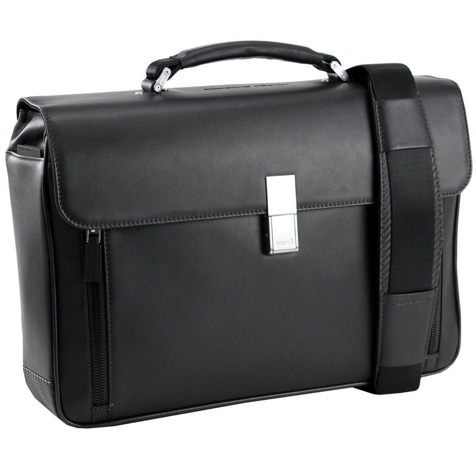Porsche Design Classic Line BriefBag FS Aktentasche Leder 41 cm in black