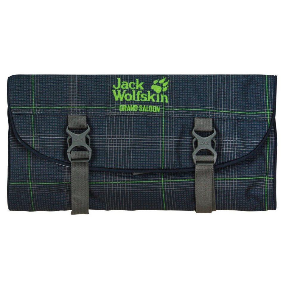 Jack Wolfskin Travel Accessories Grand Saloon Kulturtasche 32 cm in dark teal glencheck