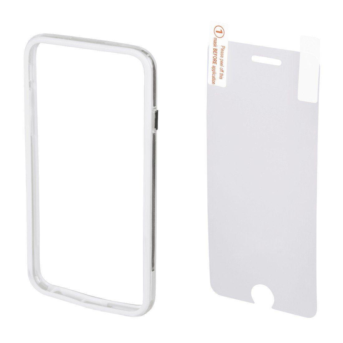 Hama Cover Edge Protector für Apple iPhone 6/6s + Displayfolie, Weiß