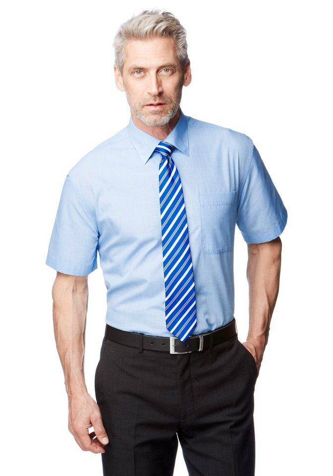 Studio Coletti Businesshemd Kurzarmhemd (Set, mit Krawatte) in blau