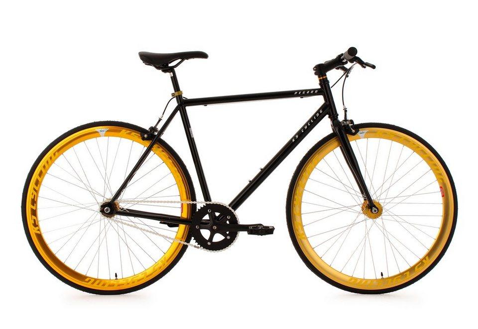 Fitnessbike, 28 Zoll, schwarz-gold, »Pegado«, KS Cycling in schwarz-gold