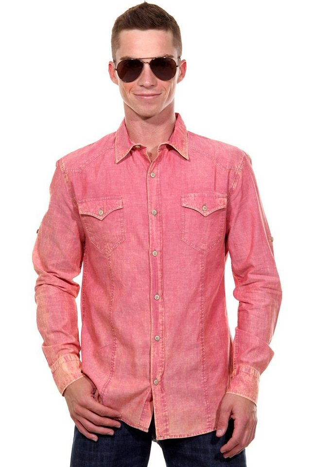 CATCH Langarmhemd slim fit in pink