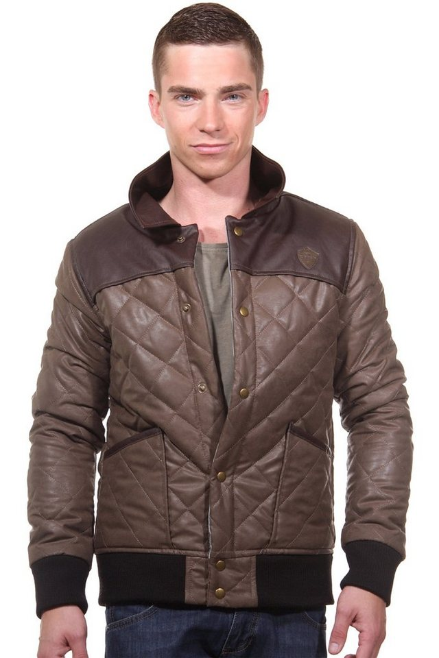 CATCH Steppjacke slim fit in braun