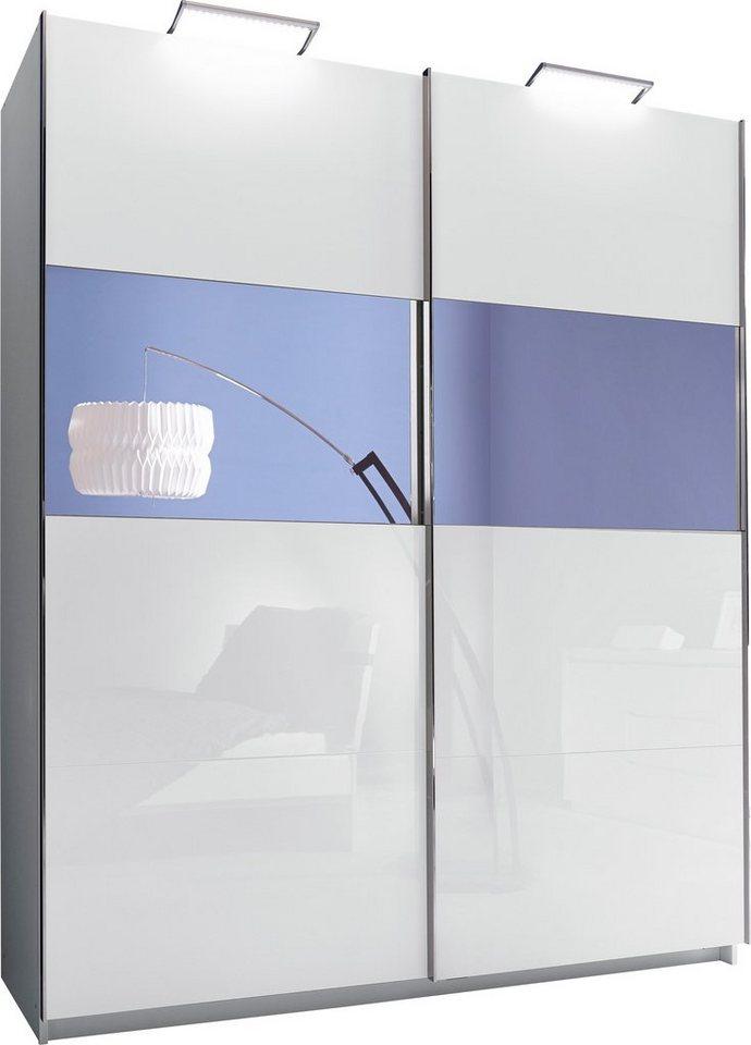 INOSIGN Schwebetürenschrank, mit Spiegel in weiß