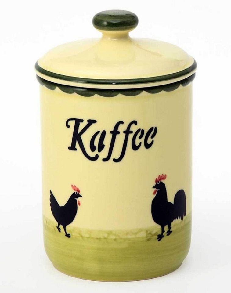 Zeller Keramik Vorratsdose »Hahn und Henne« in Bunt