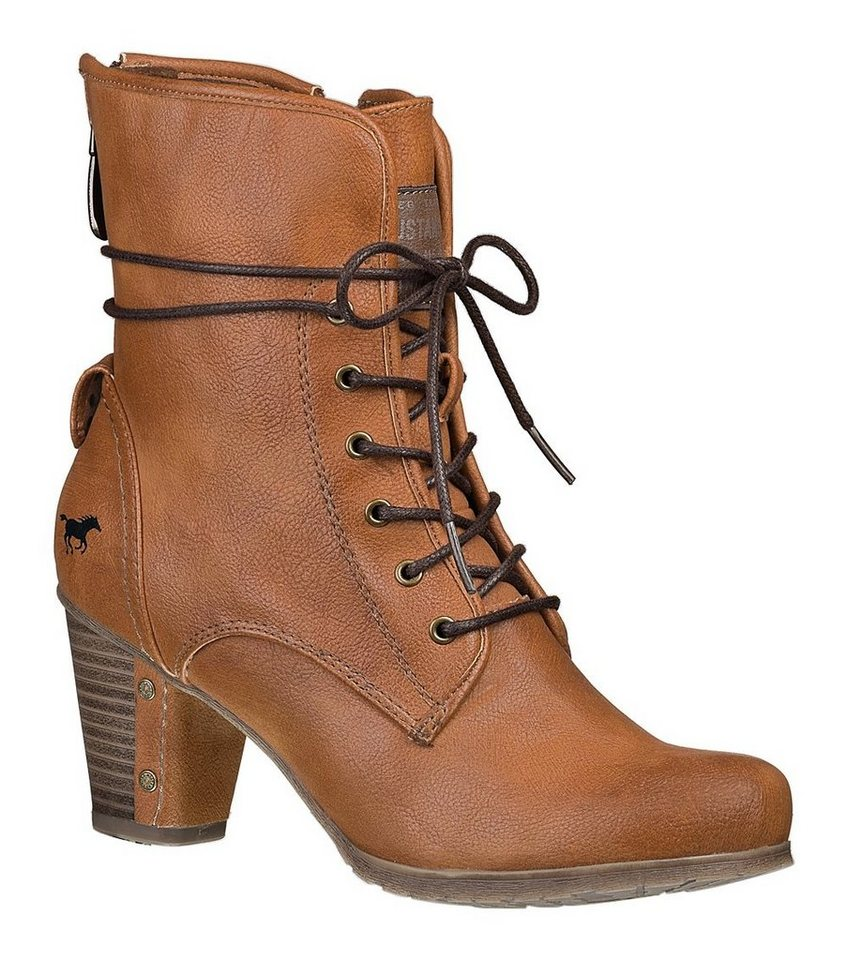 MUSTANG SHOES Stiefelette in nussbraun