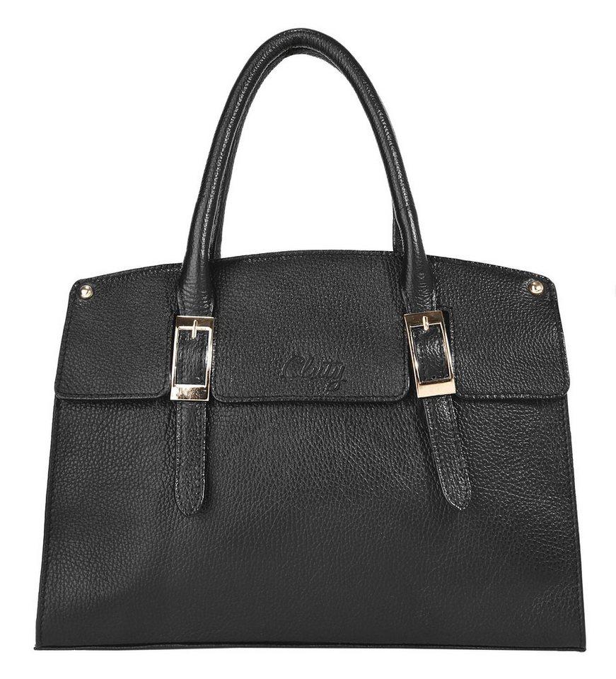 cluty leder damen handtasche mit goldenen beschl gen online kaufen otto. Black Bedroom Furniture Sets. Home Design Ideas