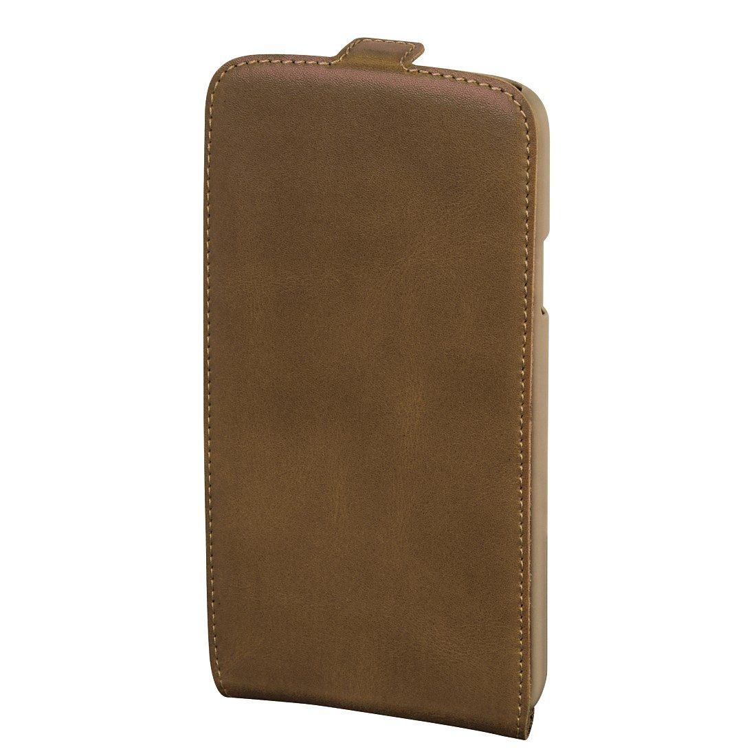 Hama Flap-Tasche Guard Case für Samsung Galaxy S5 mini, Braun/Natur