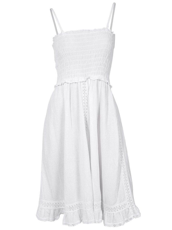 Trägerkleid in weiß