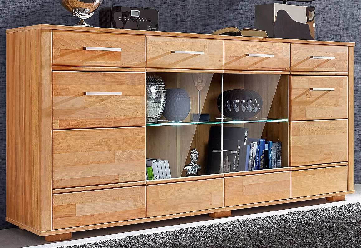 sideboard buche massiv sonstige otto preisvergleiche. Black Bedroom Furniture Sets. Home Design Ideas