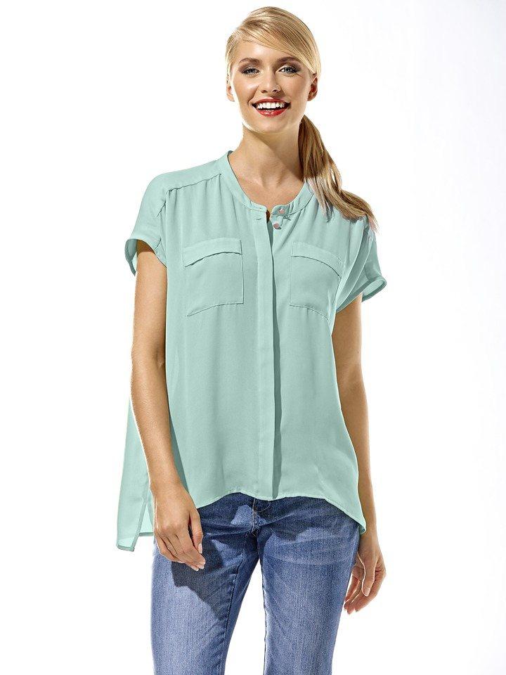 c3252a468d92 heine CASUAL Oversized Bluse mit Rundhalsausschnitt online kaufen   OTTO