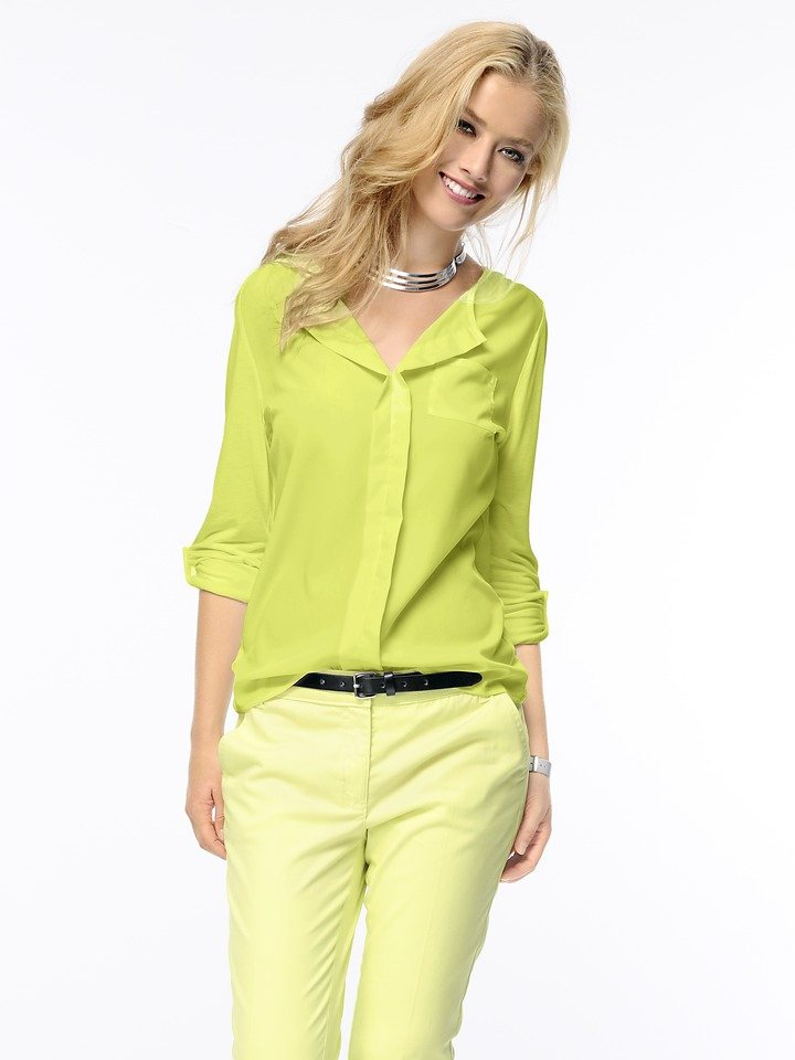 B.C. BEST CONNECTIONS by Heine Shirtbluse in limette