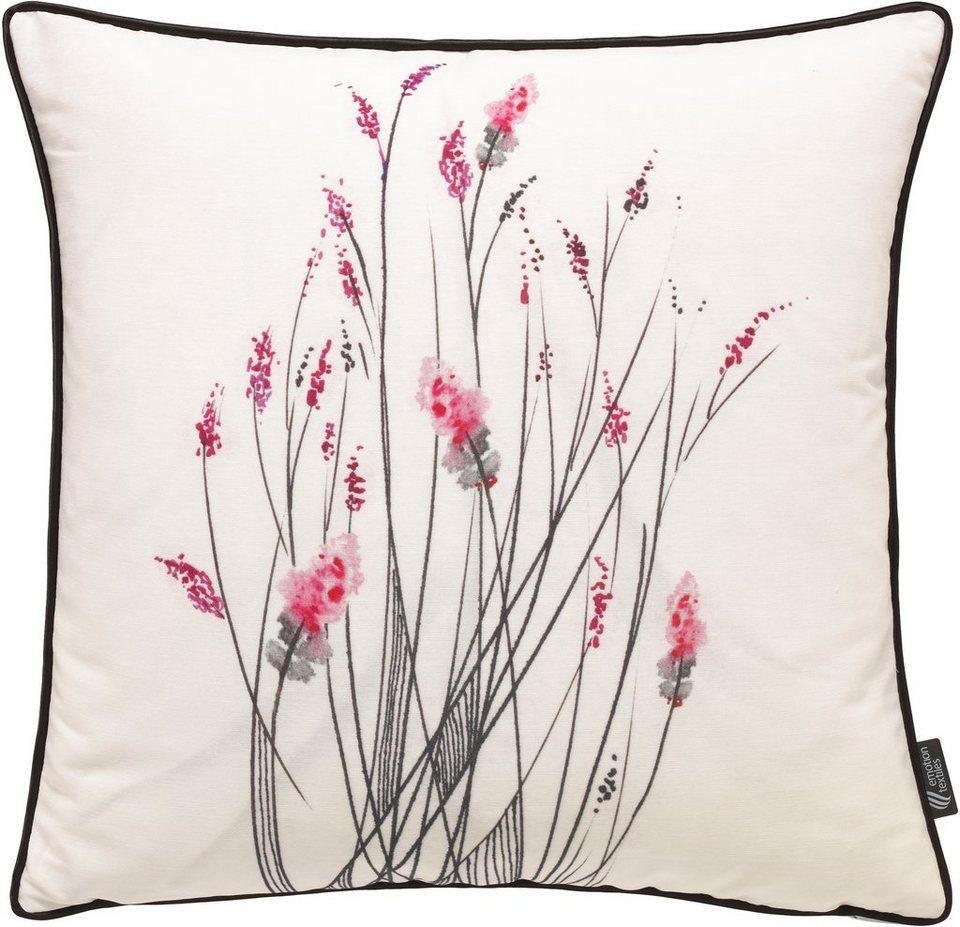 Kissenhülle, Emotiontextiles, »little inkflower« in orchidee