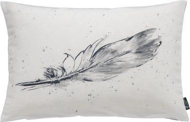 Kissenhülle »Tempera Feder«, emotion textiles