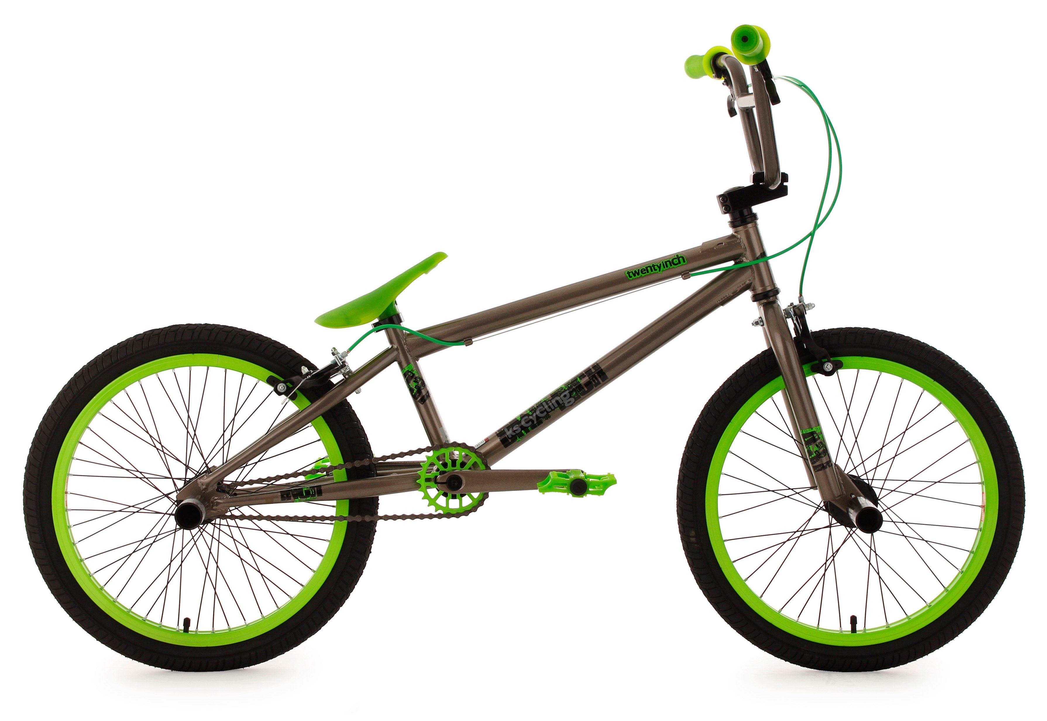 BMX Fahrrad, 20 Zoll, anthrazit-grün, »Twentyinch«, KS Cycling