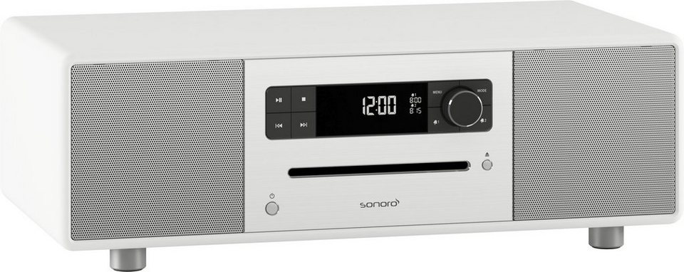 sonoro 2.1 System mit DAB+ & Bluetooth »sonoroSTEREO Weiss«