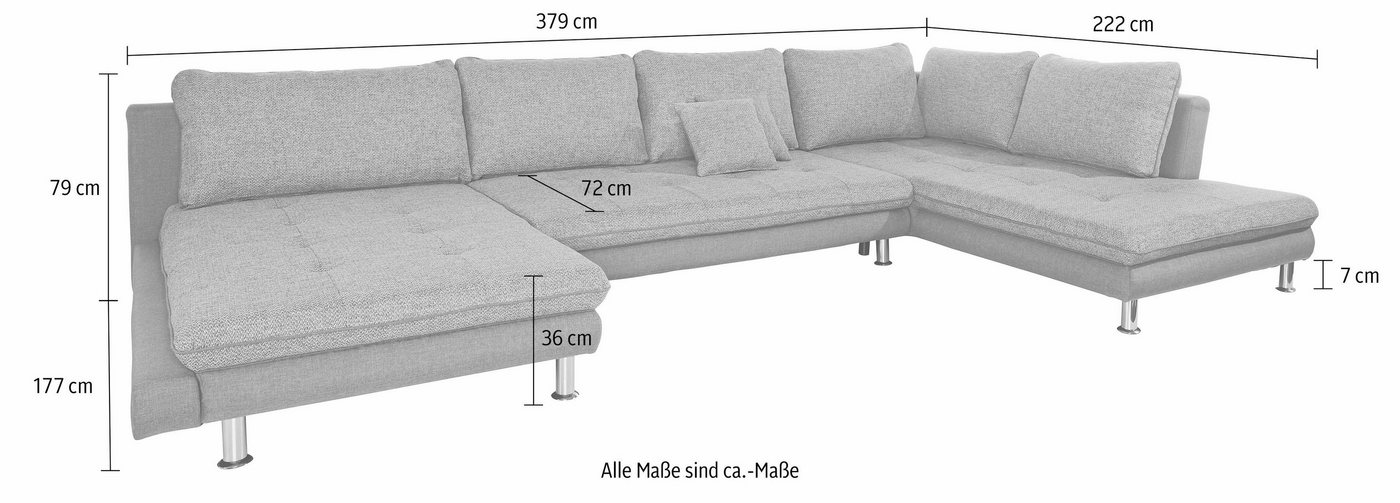 Wohnlandschaft, Sit & More, wahlweise mit Bettfunktion