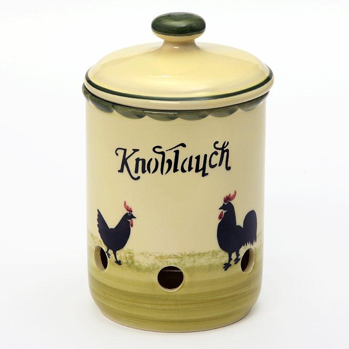 Zeller Keramik Knoblauchtopf »Hahn und Henne« in Mehrfarbig