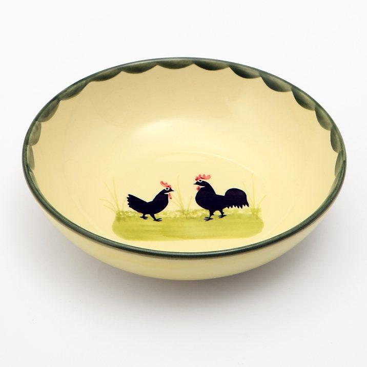 Zeller Keramik Müslischale »Hahn und Henne« in Mehrfarbig