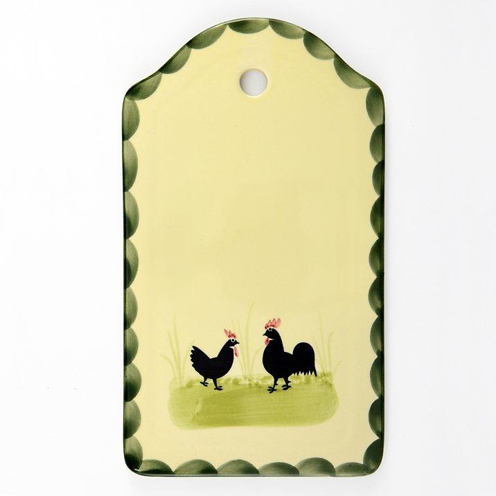 Zeller Keramik Brotplatte »Hahn und Henne« in Mehrfarbig