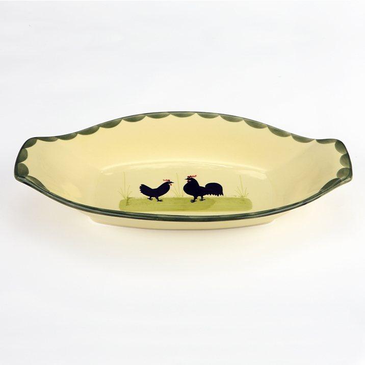 Zeller Keramik Brotkorb »Hahn und Henne« in Mehrfarbig