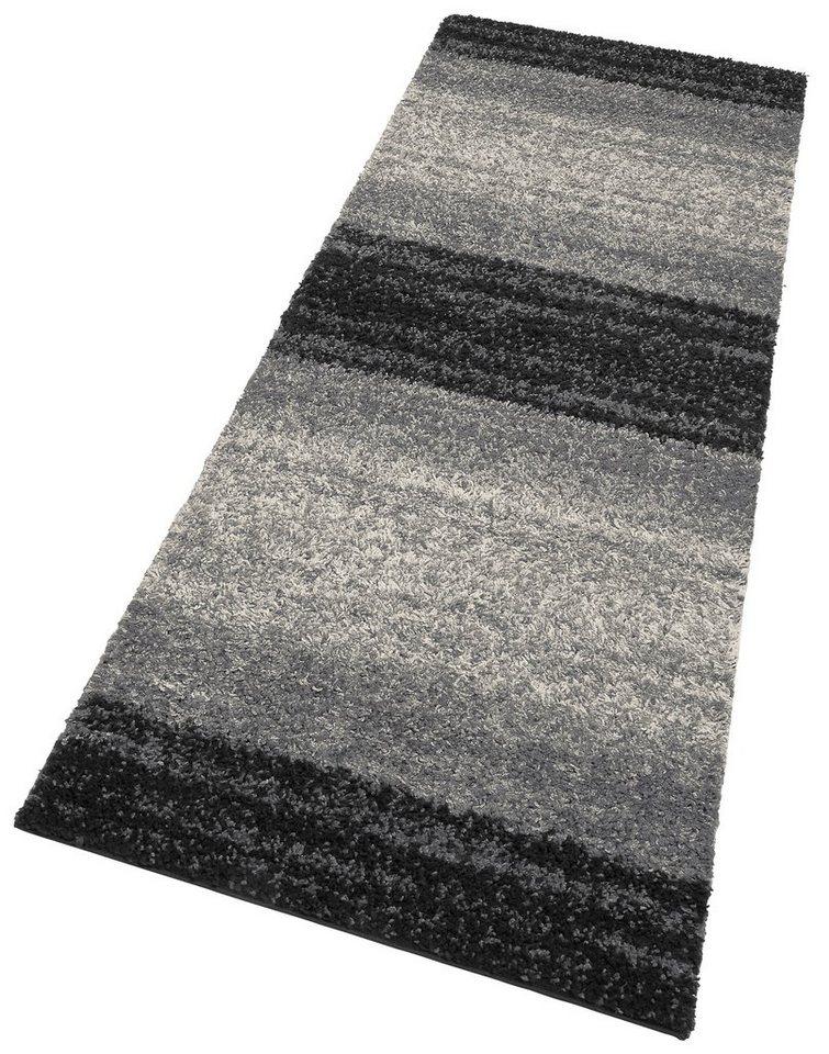 Hochflor-Läufer, my home, »Florian«, Höhe 30 mm, gewebt in schwarz