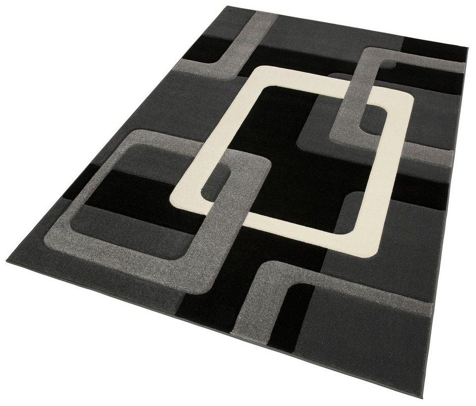 teppich maxim my home rechteckig h he 13 mm hoch tief effekt online kaufen otto. Black Bedroom Furniture Sets. Home Design Ideas
