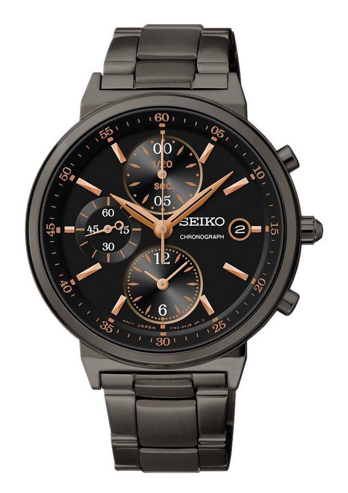 Seiko Chronograph »SNDW47P1« in schwarz