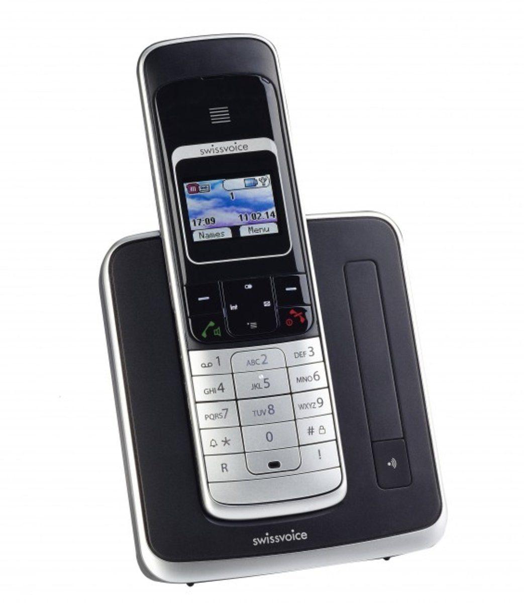 Swissvoice ISDN-Telefon schnurlos »Eurit 459 Full Eco Mode, schwarz«