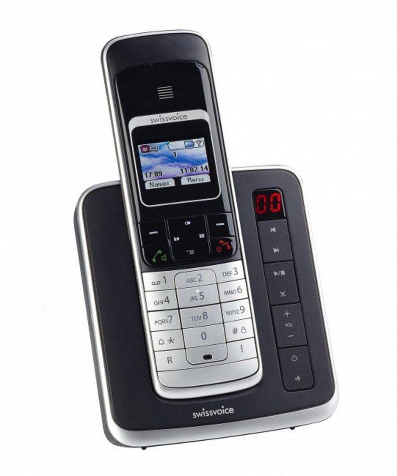 Swissvoice ISDN-Telefon schnurlos »Eurit 459 TAM Full Eco Mode, schwarz« in Schwarz