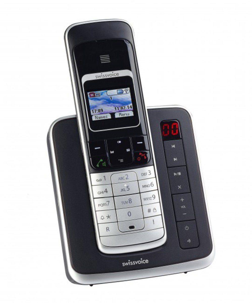 Swissvoice ISDN-Telefon schnurlos »Eurit 459 TAM Full Eco Mode, schwarz«