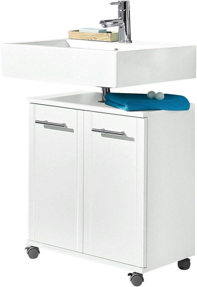 Waschbeckenunterschrank, Schildmeyer, »Emmi« in weiß MDF