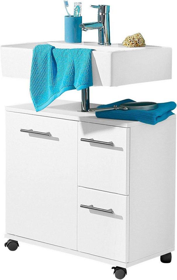 Waschbeckenunterschrank, Schildmeyer, »Emmi« in weiß glatt