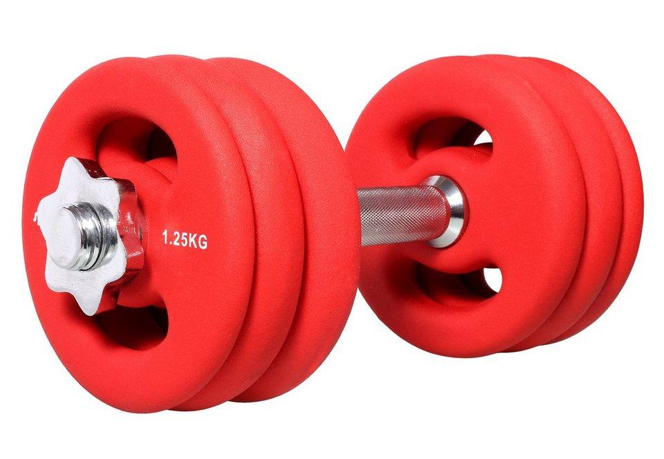 Hantel-Set, »SP-WS-015-N«, Sportplus, 15 kg in Rot