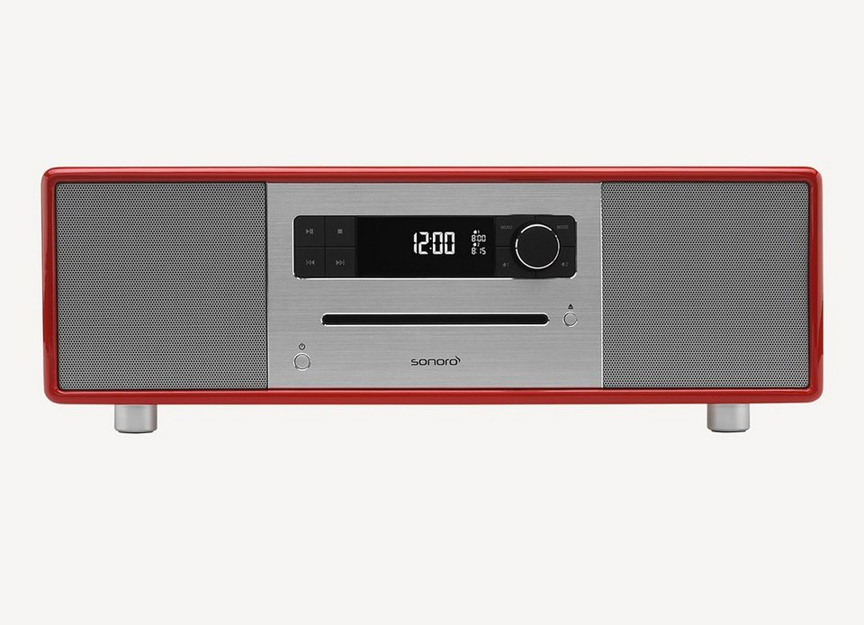 sonoro 2.1 System mit DAB+ & Bluetooth »sonoroSTEREO Rot«