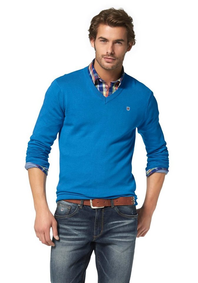 Rhode Island Strickpullover Pima Cotton in blau