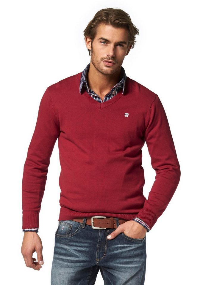 Rhode Island Strickpullover Pima Cotton in rot