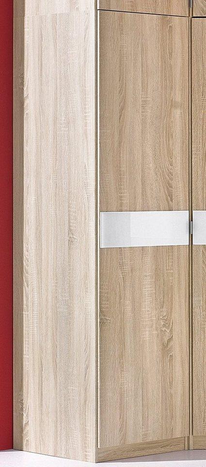 Kleiderschrank »Madrid« in struktureichefarben hell/Weißglas
