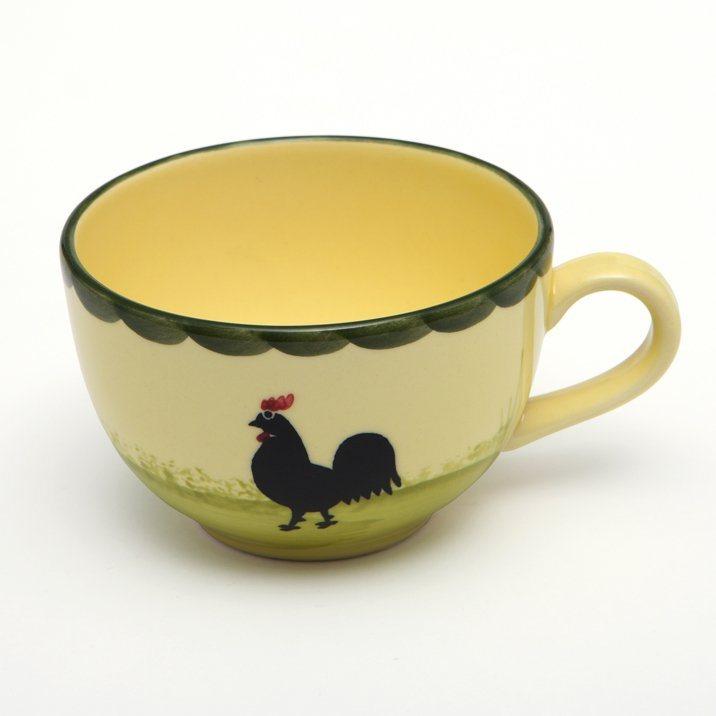 Zeller Keramik Obertasse »Hahn und Henne« in Mehrfarbig