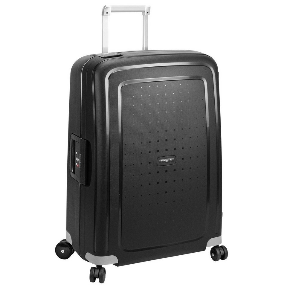 Samsonite S'Cure Spinner 4-Rollen Trolley 81 cm in black