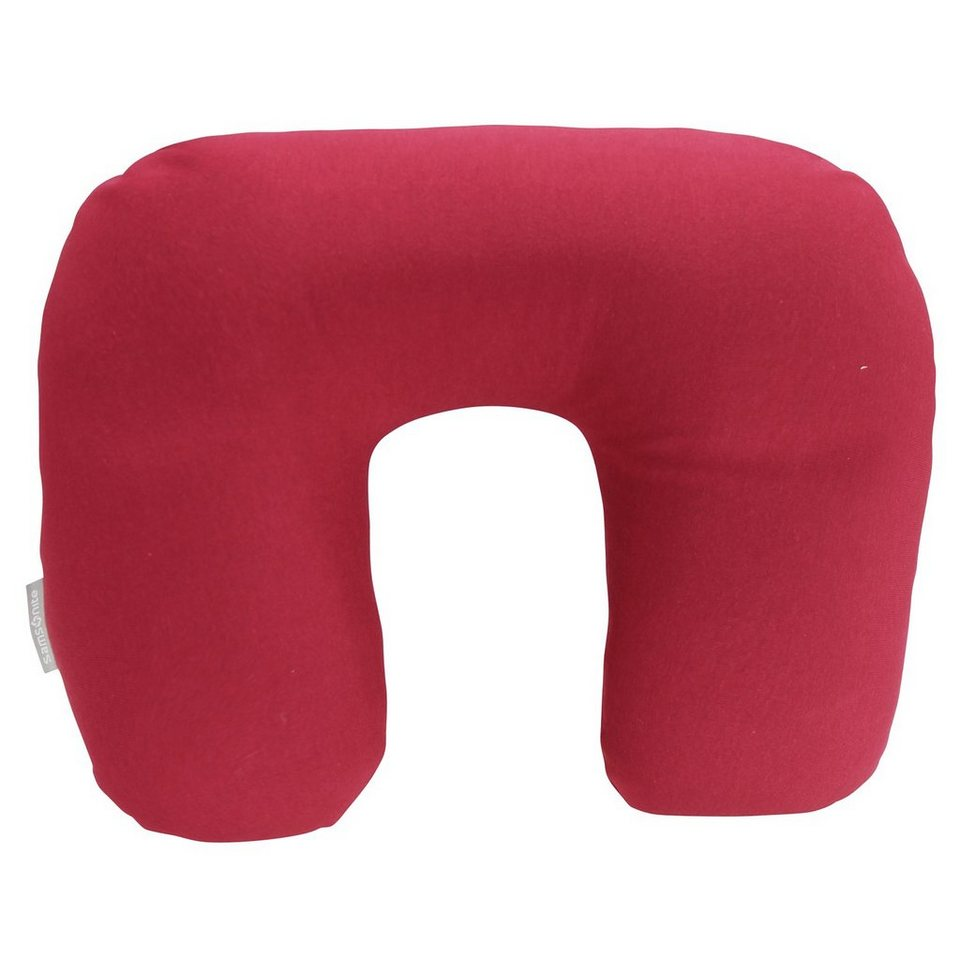 Samsonite Travel Accessories Reversible Travel Pillow Nackenkissen in red